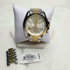 Large Michael Kors Watch Gold Silver